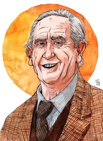 Watercolour portrait of J.R.R. Tolkien © Lee W Lundin, 2017