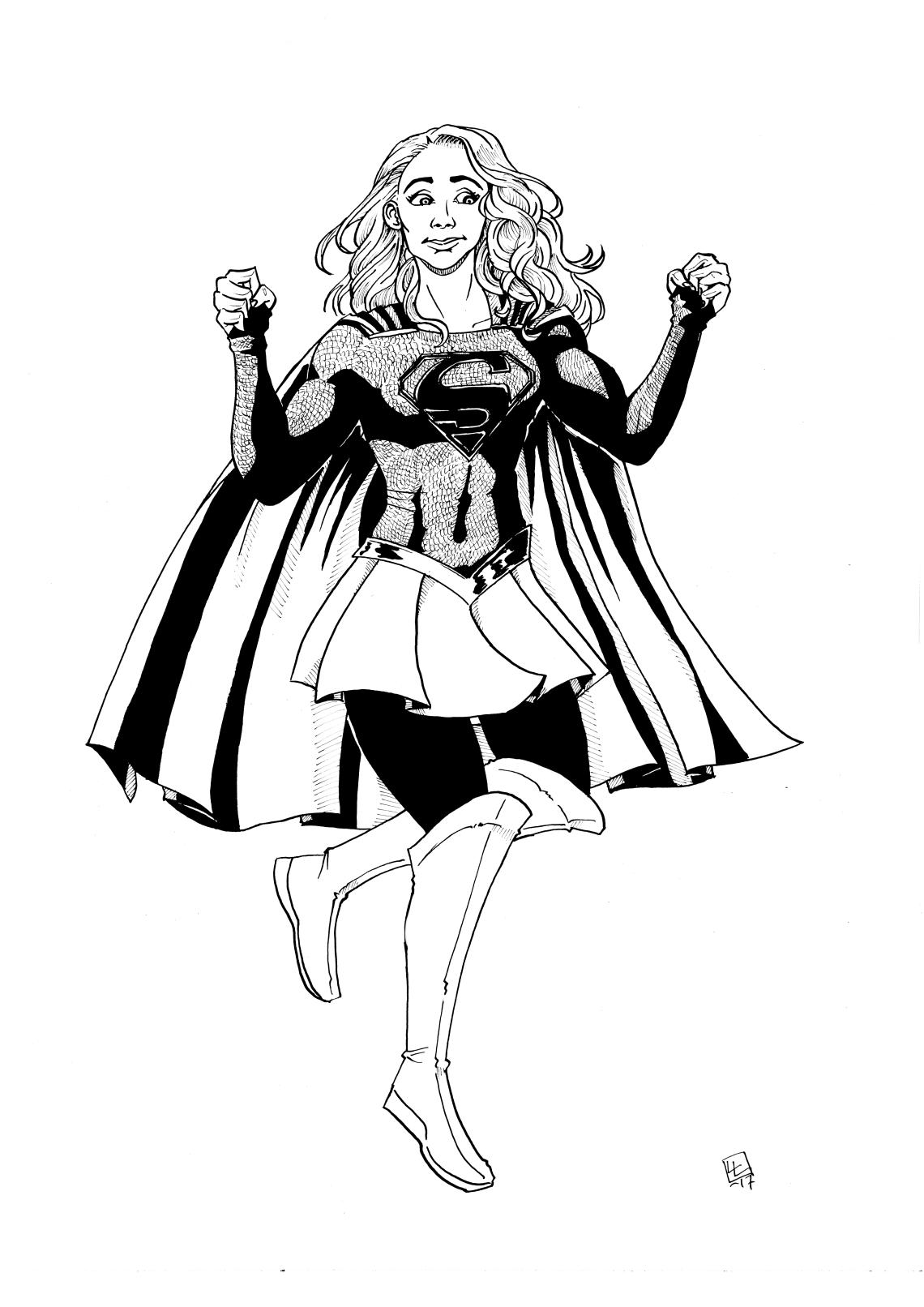 supergirlBW